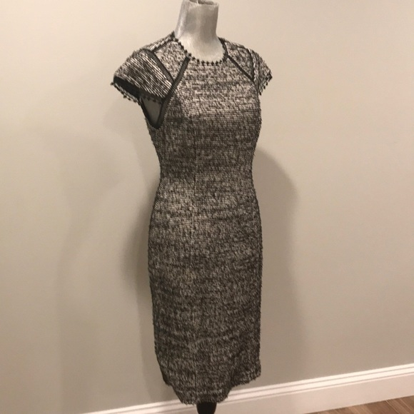 effa23ec40 Rebecca Taylor S S Stretch Tweed Shift Dress-NWT
